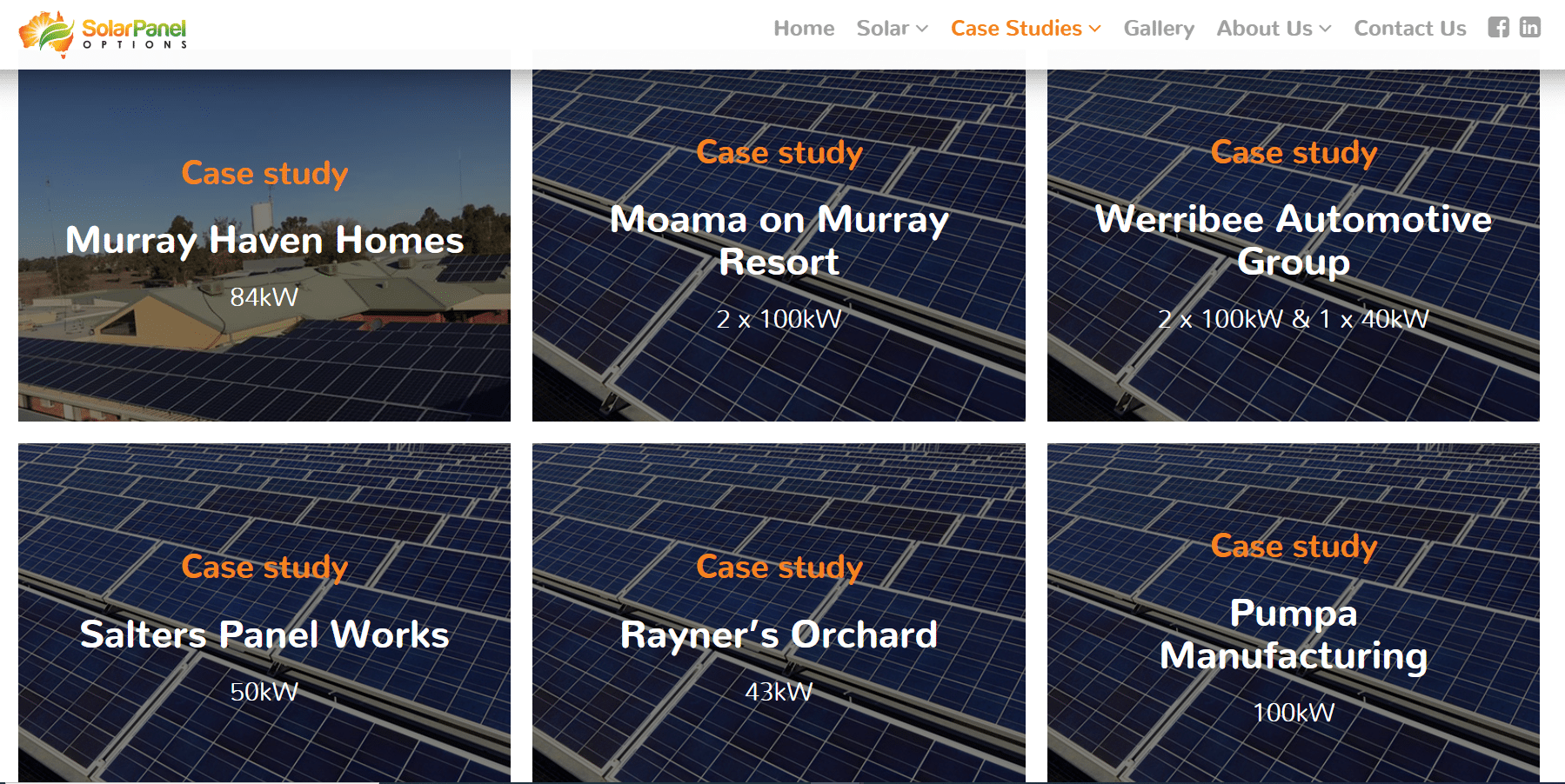 Case studies x 18: Solar Panel Options, for Mity Digital