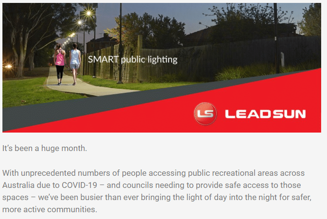 Leadsun July 2020 e-newsletter