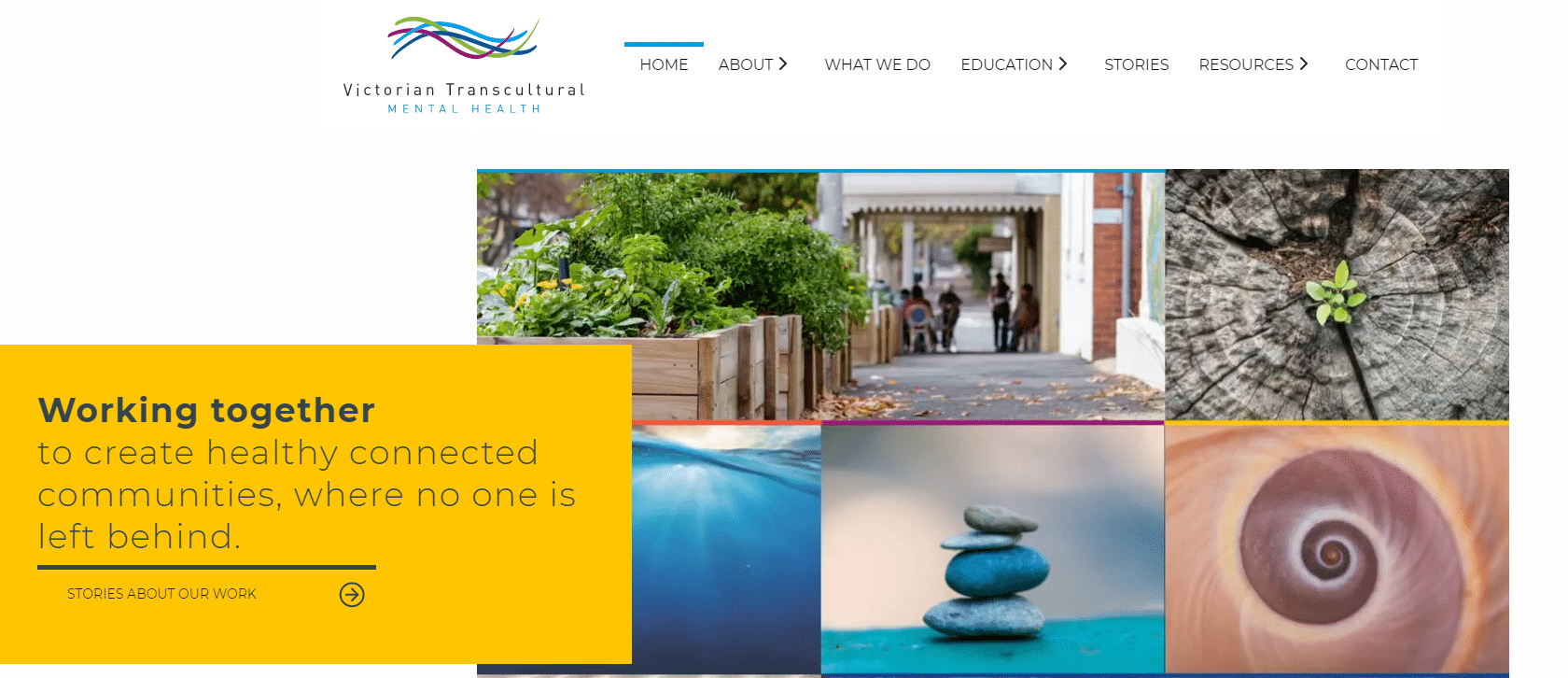 Website copy: Victorian Transcultural Mental Health, for Blick Creative